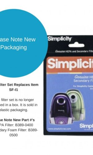 Simplicity SF-I1 Jack and Snap HEPA Filter Set