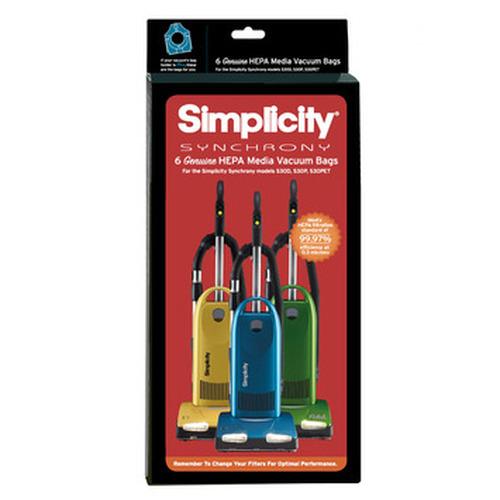 Simplicity Synchrony HEPA Media Vacuum Bags (pack of 6) SNH-6