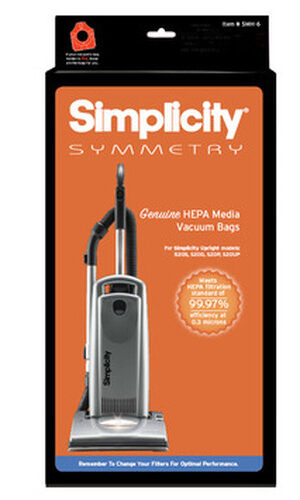 Simplicity Symmetry HEPA Media Vacuum Bags (pack of 6) SMH-6.2