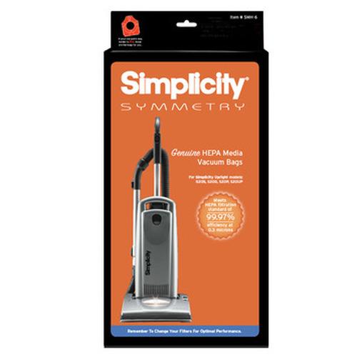 Simplicity Symmetry HEPA Media Vacuum Bags (pack of 6) SMH-6.2