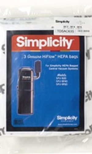 Simplicity Central Vacuum HEPA Media Bag SCB-3