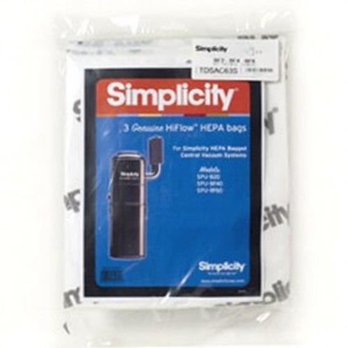 Simplicity Central Vacuum HEPA Media Bag SCB-3