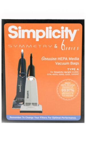 Simplicity Genuine HEPA HiFlow Filtration A Bags (pack of 6) SAH6