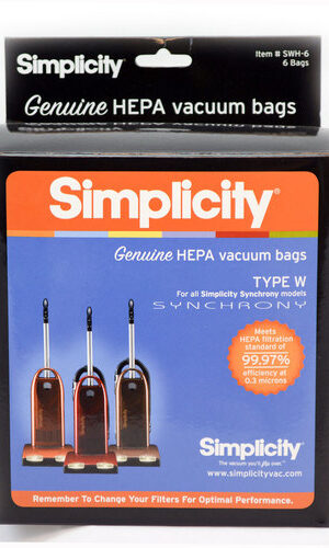 Simplicity Genuine HEPA Synchrony Bags (pack of 6) SWH-6