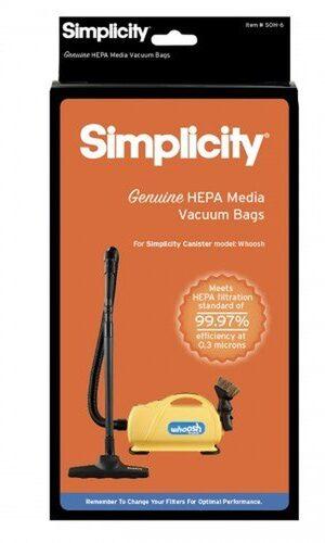 """Simplicity HEPA """"O"""" Genuine Vacuum Bags SOH-6"""